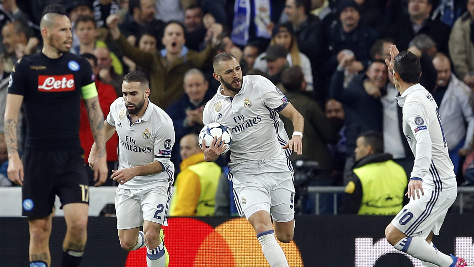 Real Madrid 3 1 Napoli Champs Come Back To Lead Prosoccertalk