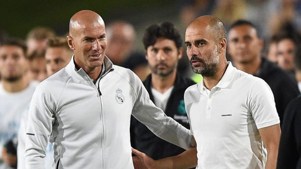 Guardiola Zidane UEFA Champions League