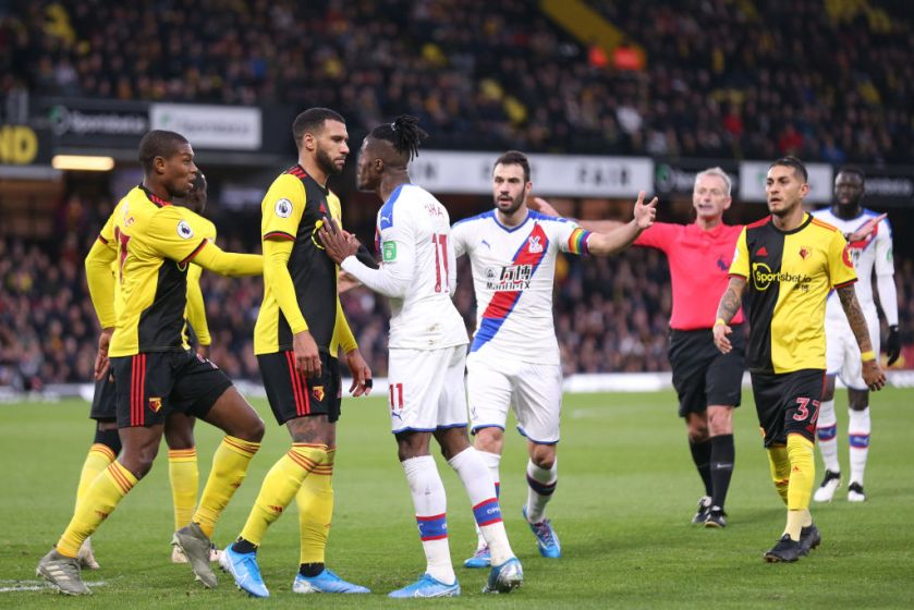 Watford Crystal Palace Play To Feisty Draw Prosoccertalk Nbc