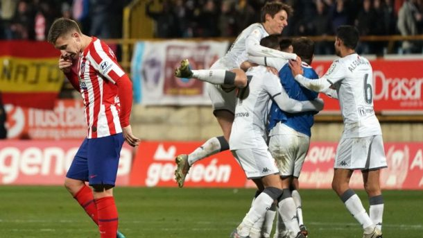 Atletico Madrid upset in Copa del Rey