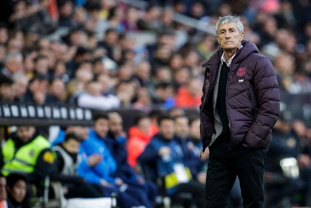 Barcelona's Setien under pressure after three games in charge