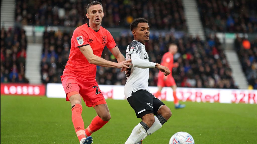 USMNT mid Holmes need scans after limping off for Derby County