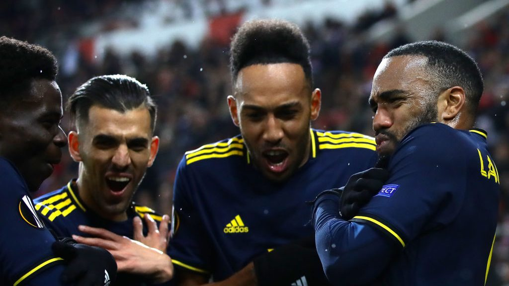 Lacazette goal gives Arsenal first leg at Olympiacos