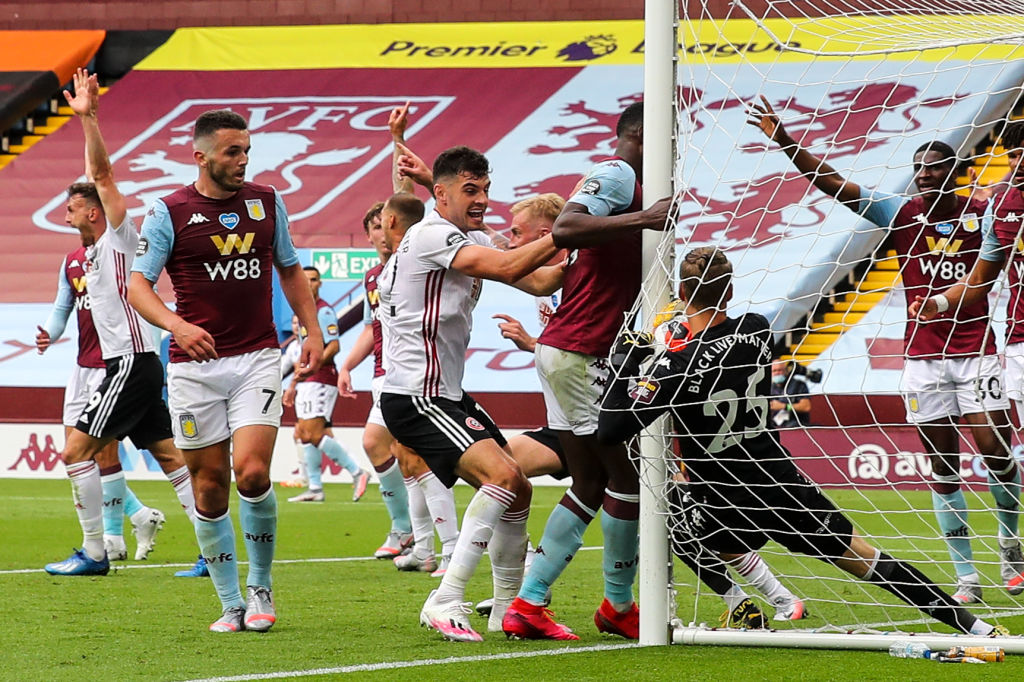 Goal-line technology fail Aston Villa Sheffield United