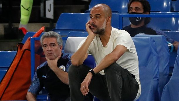 Pep Guardiola reacts to Liverpool win