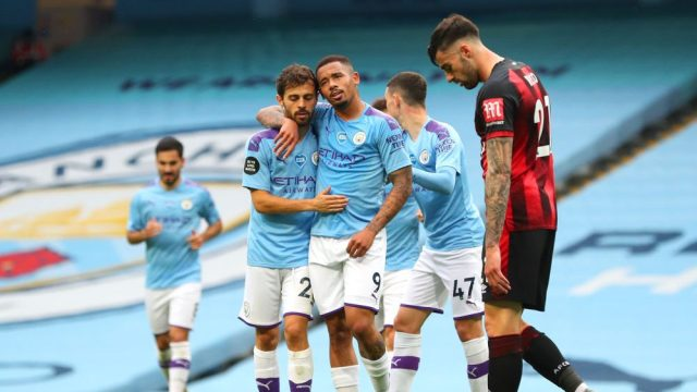 Man City Rides Early Goals Ederson To Win Over Bournemouth Video