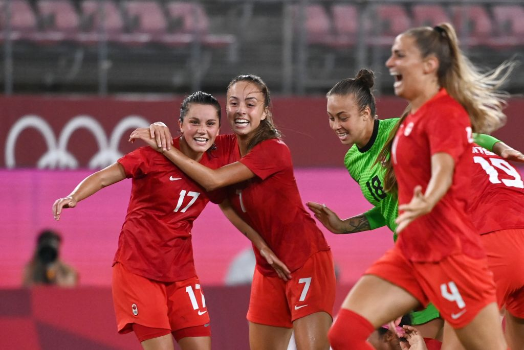 Women's Olympic soccer: Canada wins Gold after penalty shootout - Video